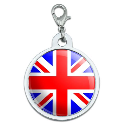 Britain British Flag Large Metal ID Pet Dog Tag