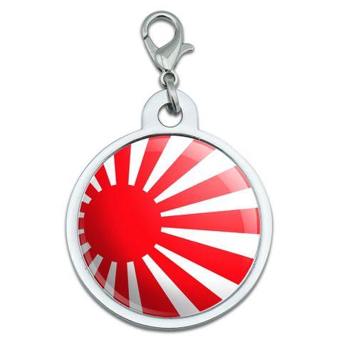 Japan Japanese Flag Rising Sun Large Metal ID Pet Dog Tag