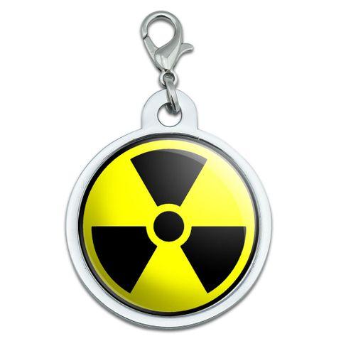 Radioactive Nuclear Warning Symbol Large Metal ID Pet Dog Tag