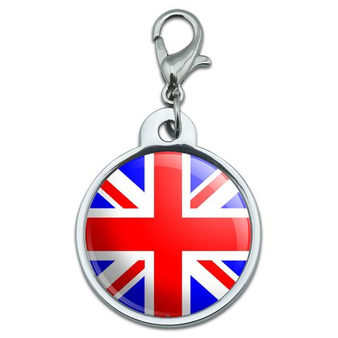 Britain British Flag - Union Jack Small Metal ID Pet Dog Tag