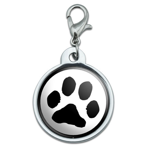 Paw Print - Pet Dog Cat Small Metal ID Pet Dog Tag