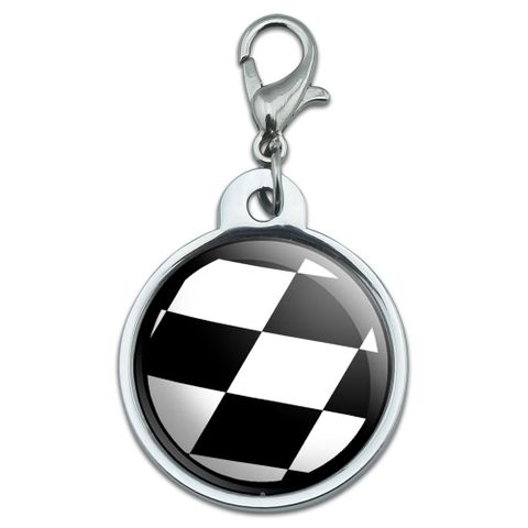 Checkered Flag - Racing Small Metal ID Pet Dog Tag