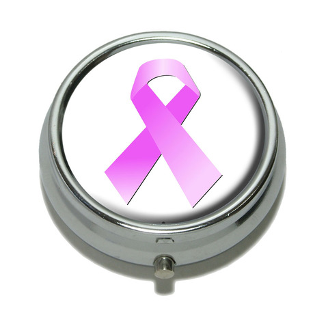 Breast Cancer Pink Ribbon Pill Box