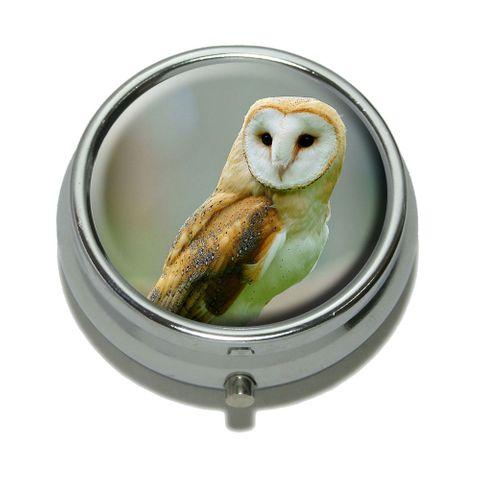 Barn Owl Bird Pill Box - No. 1