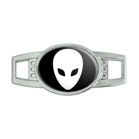 Alien Oval Slide Shoe Charm