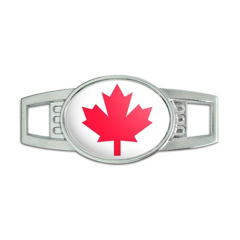 Maple Leaf - Canada Oval Slide Shoe Charm