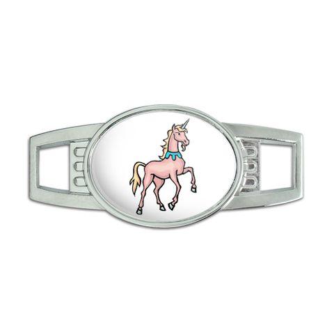 Unicorn Oval Slide Shoe Charm