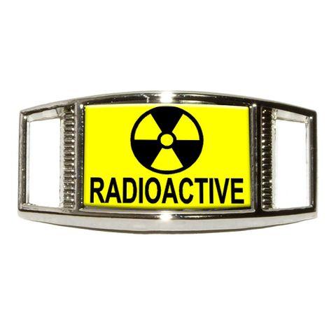 Radioactive - Nuclear Warning Symbol Rectangle Shoe Charm