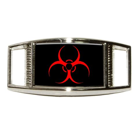 Biohazard Warning Symbol - Zombie Rectangle Shoe Charm