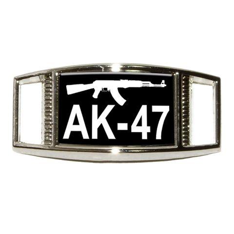 AK-47 Assault Rife Rectangle Shoe Charm