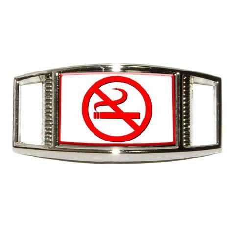No Smoking Symbol Rectangle Shoe Charm