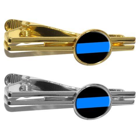 Thin Blue Line - Police Policemen Round Tie Clip
