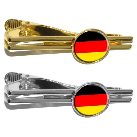 German Germany Flag Round Tie Clip
