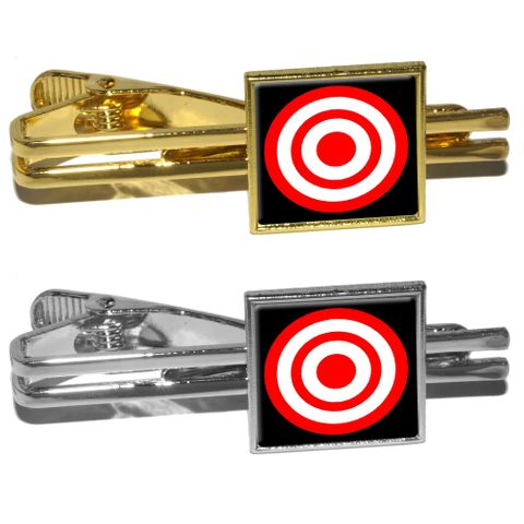 Target Sniper Scope Bullseye Square Tie Clip