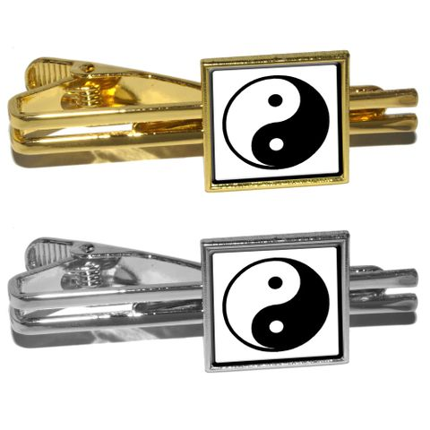 Yin and Yang - Chinese Symbol - Taoism Square Tie Clip