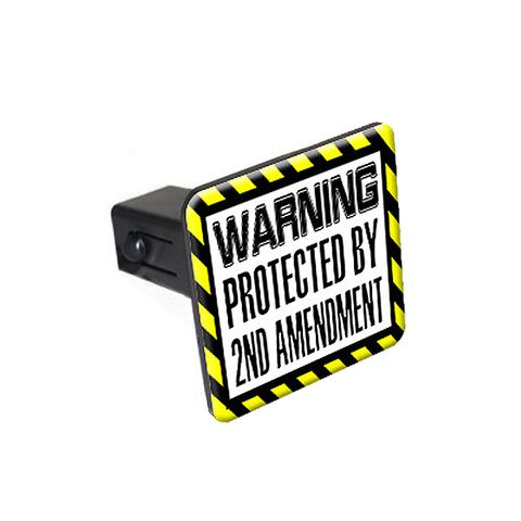 Protected By 2nd Amendment Tow Hitch Cover
