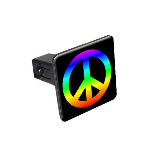 Peace Sign Rainbow Tow Hitch Cover