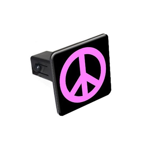 Peace Sign Pink Tow Hitch Cover