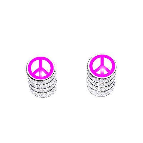 Peace Sign Pink - Bike Valve Stem Caps