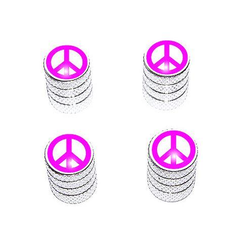 Peace Sign Pink - Valve Stem Caps