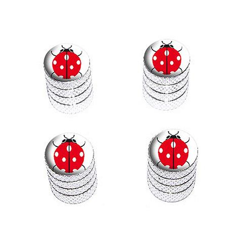 Ladybug on White - Valve Stem Caps