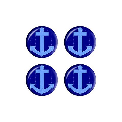 Anchor Boat Distressed - Set of 3D Stickers