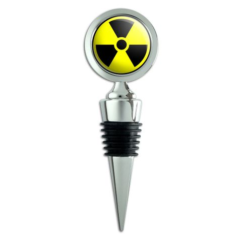 Radioactive Nuclear Warning Symbol Wine Bottle Stopper