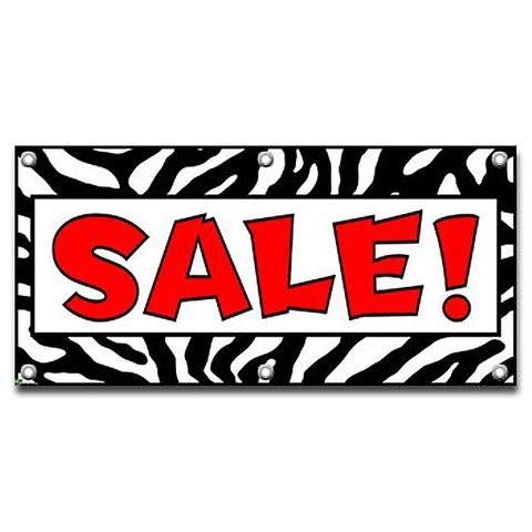 Sale Zebra Print - Store Business Sign Banner