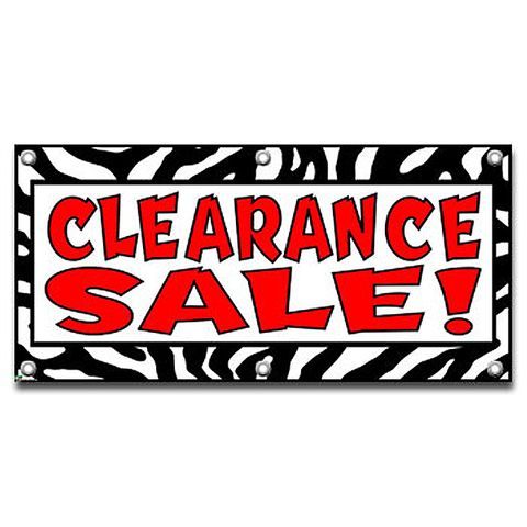 Clearance Sale Zebra Print - Store Business Sign Banner