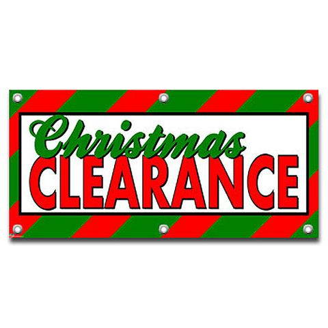 Christmas Clearance - Store Business Sign Banner