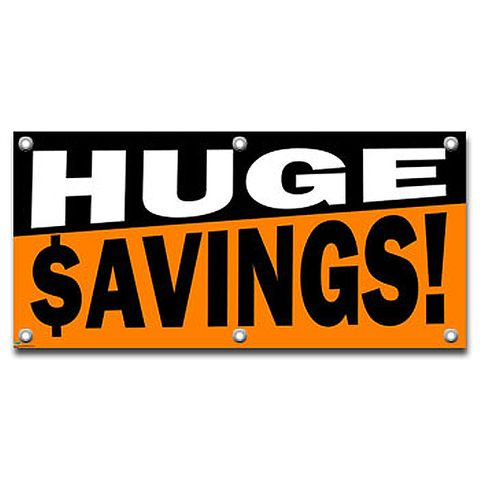 Huge Savings - Retail Store Business Sign Banner