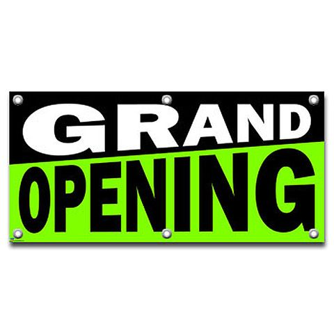 Grand Opening - Retail Store Business Sign Banner
