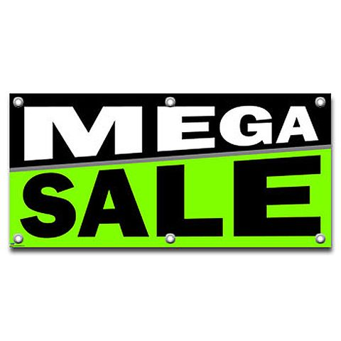 Mega Sale - Retail Store Business Sign Banner