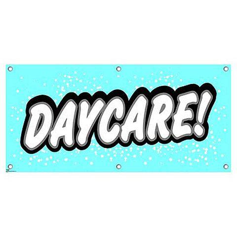 Daycare - Preschool Babysitting Promotion Business Sign Banner