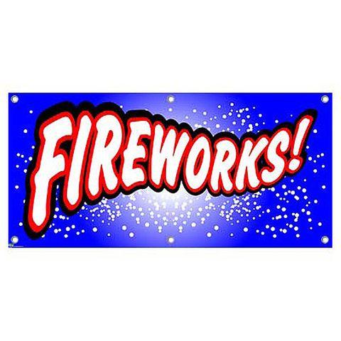 Fireworks - Promotion Business Sign Banner
