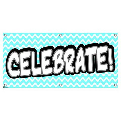 Celebrate Light Blue - Party Celebration Banner