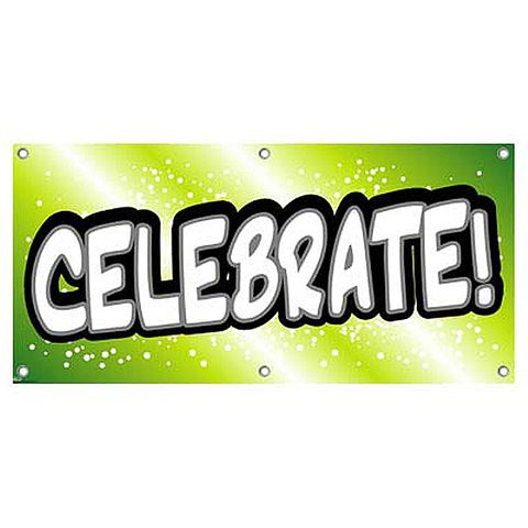 Celebrate Lime Green - Party Celebration Banner