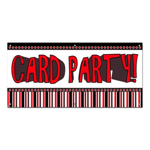 Card Party - Games Casino Cards Poker Party Celebration Banner