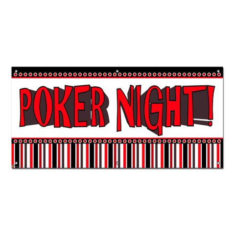 Poker Night - Games Casino Cards Party Celebration Banner