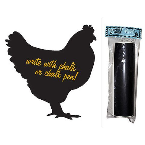 Chicken - Large Hen Rooster Chalkboard Vinyl Wall Sticker
