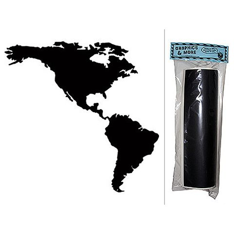 United States - USA America Map Chalkboard Vinyl Wall Sticker