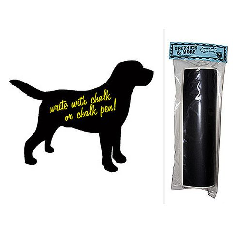 Dog Lab Chalkboard Vinyl Wall Sticker