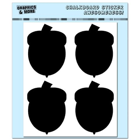 Acorns - Fall Thanksgiving - 4 Sheets Chalkboard Stickers