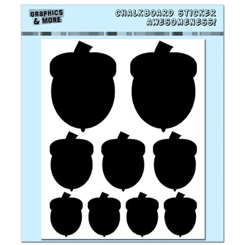 Acorns Assorted Sizes - Thanksgiving Fall - 4 Sheets Chalkboard Stickers