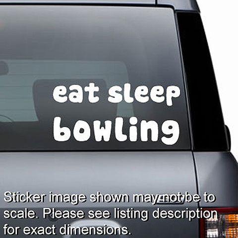 Eat Sleep Bowling Decal