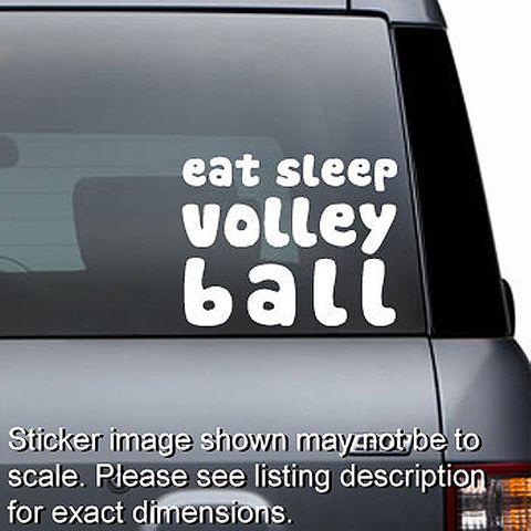 Eat Sleep Volleyball Decal