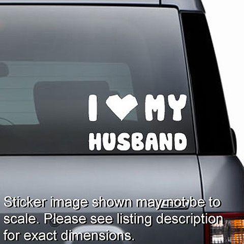 I Love My Husband Decal
