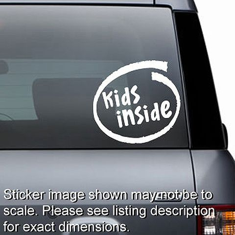 Kids Inside Decal