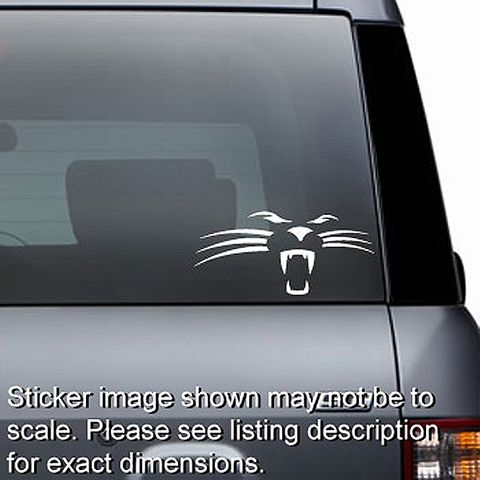 Panther Cat Face Decal