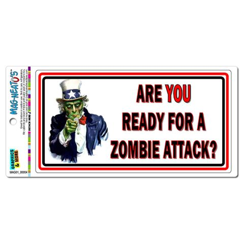 Are You Ready For A Zombie Attack Uncle Sam MAG-NEATO